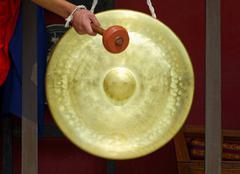Gong buddhalaisessa luostarissa Kuvituskuvat