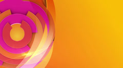 Rotating red circles on yellow and orange background, loop Stock Footage