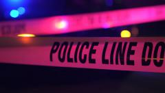 Police Crime Scene Tape 1 Stock Footage