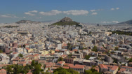 Stock Video Footage of Athens Greece the panoramic of the vast city buildings in the center of the city