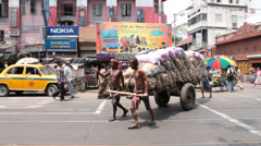 Day Traffic in Kolkata Stock Footage