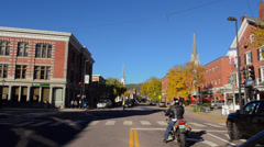 Montpelier Vermont Capital city smallest in the USA downtown Main Street with Stock Footage