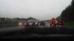 Car Cash on Highway, Police on the Scene Stock Footage