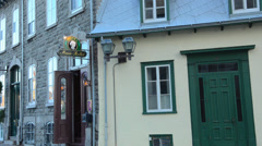 Quebec City Quebec Canada beautiful scene of  Hotel Marie-Rollet in French Stock Footage