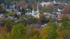 Littleton New Hampshire täydellinen New England kaupunki syksyllä lehtien värejä Arkistovideo