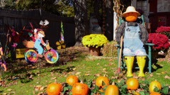 Jackson New Hampshire pumpkins for Halloween in Northern New England in fall Stock Footage