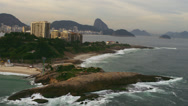 Stock Video Footage of Shot of Rio de Janiero from the sea including a peninsula