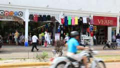 Cozumel Shopping San Miguel 1 Stock Footage