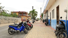 Streets of San Miguel Cozumel Mexico 1 Stock Footage