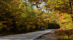 Kancamagus Highway New Hampshire near Conway road driving in  fall foliage in - stock footage