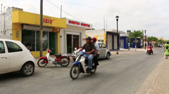 Streets of San Miguel Cozumel Mexico 4 Stock Footage