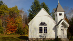 Newry Maine church Newry Community Church 1904 in Northern New England in fall Stock Footage