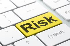 Stock Illustration of Business concept: Risk on computer keyboard background