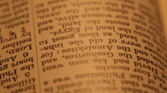 Close up of an Old Holy Bible Stock Footage