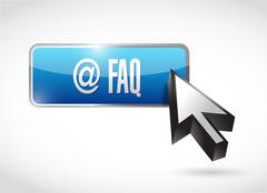 Stock Illustration of faq button sign illustration design