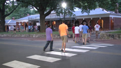 Students walking to events Stock Footage