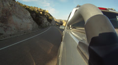 HD time lapse vehicle mounted mountain driving - mounted on rear of truck Stock Footage