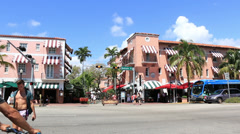 Miami Beach Art Deco 4 Espanola Way Stock Footage