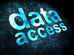 Data concept: Data Access on digital background Stock Illustration