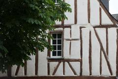 Half-timbered house in chinon, vienne valley, france Stock Photos