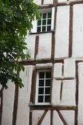 Stock Photo of half-timbered house in chinon, vienne valley, france