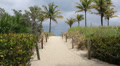 South Beach Miami Storm Clouds Path Footage