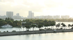 Miami Morning 2 Bicycles Stock Footage
