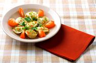 Pelmeni on plate Stock Photos