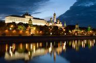 Moscow kremlin morning Stock Photos