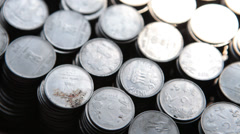 Closeup shot of Indian Rupee Stock Footage
