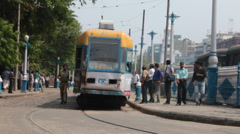 Tram at Kolkata Stock Footage