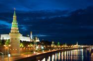 Kremlin and river close up Stock Photos
