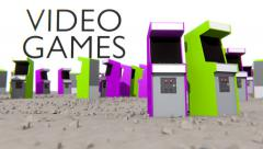 Video Games - Arcade Cabinets CG (HD) Stock Footage