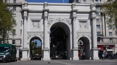 Marble Arch monument in central London Stock Footage