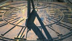 Sundial timelapse panning above no clouds Stock Footage