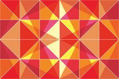 Orange triangle - stock illustration Stock Illustration