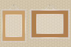 frames on wall - stock illustration - stock illustration