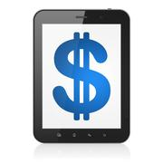 Currency concept: Dollar on tablet pc computer Stock Illustration
