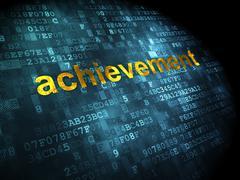 Education concept: Achievement on digital background Stock Illustration