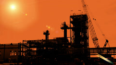 Mega-structures under construction Stock Footage