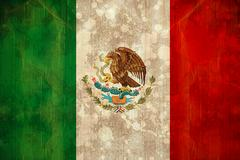 Mexico flag in grunge effect Stock Photos