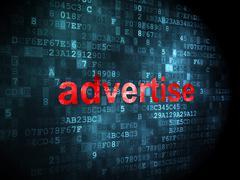 Stock Illustration of Marketing concept: Advertise on digital background