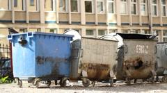 Slum Garbage Dumpsters Stock Footage