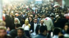 Taksim Square people walks 13 Stock Footage