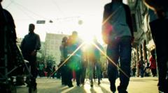 Taksim Square people walks 21 Stock Footage