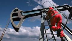 Oil Rig Worker Stock Footage