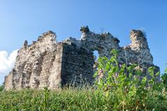 Old castle ruins in village seredne Stock Photos