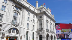 County Fire Office building in Piccadilly Circus Central London Stock Footage