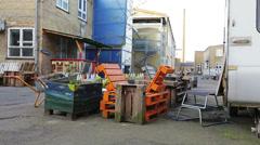 Urban gardening in Denmark Stock Footage