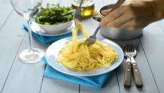 spaghetti - stock footage